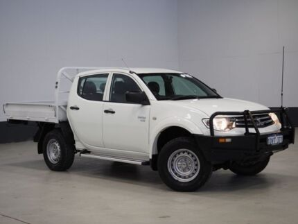 2012 Mitsubishi Triton MN MY12 GLX (4x4) White 4 Speed Automatic 4x4 Dual Cab Utility Bentley Canning Area Preview