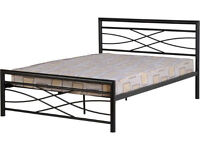 New Metal bedframe stylish design 3ft & 4ft6
