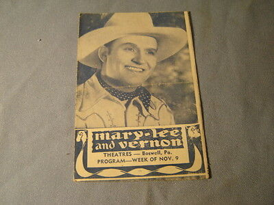 Vintage  Gene Autry Twilight On The Rio Grande Marked Woman Movie Herald