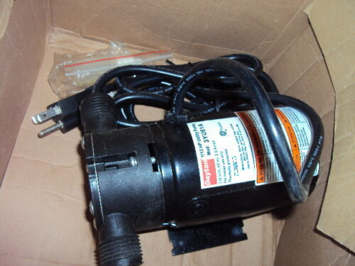 "DAYTON 3YU61 Utility Pump, 1/12 HP ,115 Voltage, 3/4"" GHT Inlet, 3/4"" GHT Outlet"