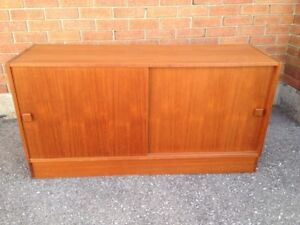 Danish teak sideboard or entertainment unit,  made by Domino Mob
