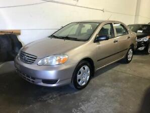 2003 TOYOTA COROLLA |LOW KMS FOR YEAR - 199K|AUTO|CERTIFIED