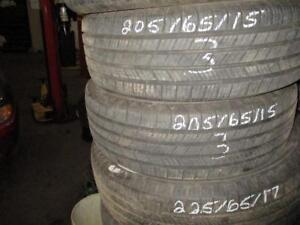 205/65 R15 MICHELIN USED TIRES (SET OF 2) - APPROX. 80% TREAD