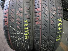 245 45 18 Bridgestone Turanza, Runflat x2 A Pair, 5.3mm (168 High Road, RM6 6LU) Part Worn