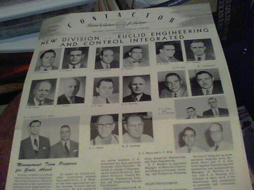 Nov1953 Contactor Reliance Electric newsletter Ashtabula, Euclid Engineering ck1