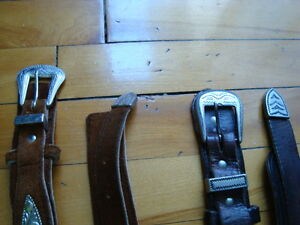 MEN'S WESTERN LEATHER BELTS BLACK&BROWN SIZE 36-38 West Island Greater Montréal image 10