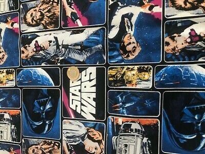 STAR WARS RETRO    100%  cotton fabric fat quarter material mask MAKING