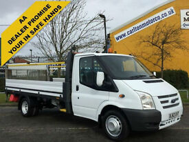 2012 / 62 Ford Transit 125 350EF Dropside + Tail Lift 13.5ft Alloy Body DRW