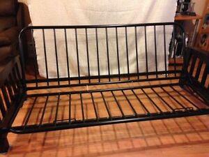Futon frame (wood and metal)