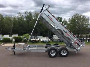 "NEW 2018 K-TRAIL 80"" x 14' HD GALVANIZED DUMP TRAILER"