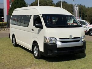 2017 Toyota HiAce KDH223R Commuter High Roof Super LWB White 4 Speed Automatic Bus Southport Gold Coast City Preview