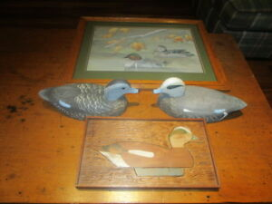 Tom Martindale Rare Wigeon Decoys Display