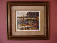 "Tom Thomson ""The Canoe"" Friend of the Group of Seven Framed L/E"