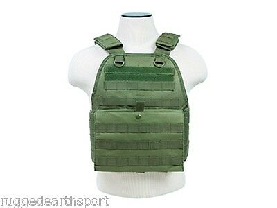 MOLLE PALS CHEST RIG ARMOR * PLATE CARRIER ONLY * Tactical Vest OD GREEN