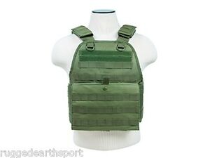 MOLLE-PALS-CHEST-RIG-ARMOR-PLATE-CARRIER-ONLY-Tactical-Vest-OD-GREEN