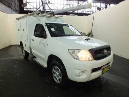 2010 Toyota Hilux KUN26R MY11 Upgrade SR (4x4) Glacier White 5 Speed Manual Cab Chassis Clemton Park Canterbury Area Preview