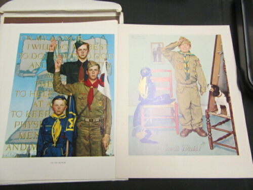 Scouting Through the Eyes of Norman Rockwell, Series II, 1979     Cov