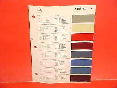 1969 AUSTIN 850 MINI COOPER S AMERICA SEDAN BRITISH LEYLAND GLASURIT PAINT CHIPS
