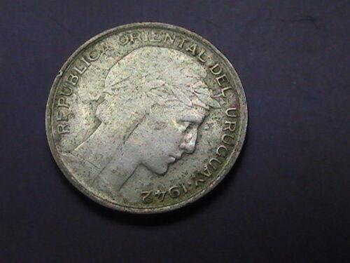 Uruguay 20 Centesimos Silver  1942