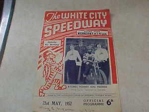 White Speedway Scotland V England May 21 1952!!