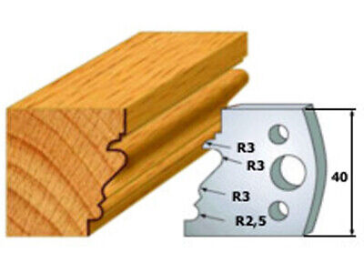 Cmt 690.122 Profiled Knives For Shaper Cutters 1-3764-inch Cutting Length 2pk