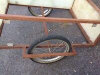 Large Bicycle/Bike Trailer, with Metal Frame