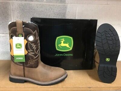 JOHN DEERE BOOTS  #3502 YOUTH (BIG KIDS) LEATHER BOOTS