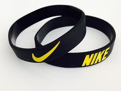 Nike Sports Black with Yellow baller silicone wristband Buy 3 get 2 Free or Buy