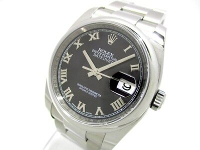 Auth ROLEX The Datejust 116200 Silver M