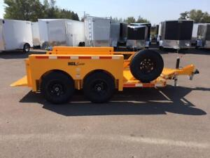 "NEW 2018 ANDERSON 72"" x 12' HYDRAULIC GROUND LIFT TRAILER"