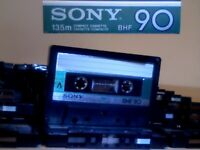 SONY BHF CASSETTE TAPES x 30 JOB LOT W/ CASES : USED ONCE ONLY.