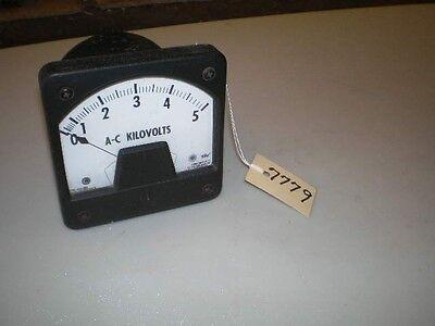 Westinghouse Ac Kilovolt Meter 0-5 Kilovolt Type Ka-221 Stl 291b673a13 4.5x4.5