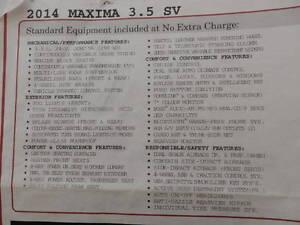 2014 Nissan Maxima Sport Sedan