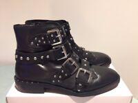 Topshop black stud boots