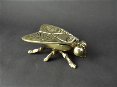 Early 20th c Brass Fly Trinket Box