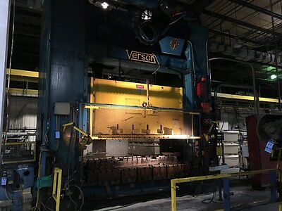 Verson 600 Ton Straight Side Double Crank Mechanical Press 120 L-r X 72 F-b