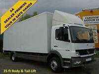 2007 07 Mercedes-Benz Atego 1218 Day 25ft Grp Box van T/Lift [ Low Mileage ]