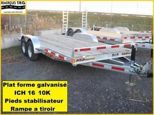 PLAT FORME 16 pieds GALVANISÉ 2 ESSIEUX 5200 lbs PAS DINSPECTION