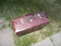 Leather Luggage case Circa 1940s