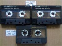 JL 3x RARE SONY UX-S 90 CHROME CASSETTE TAPES 1986-87 & 1988-89 JOB LOT OR SOLO SALES