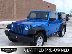 2016 Jeep Wrangler Unlimited 4WD SPORT  Accident Free,  Bluetoot
