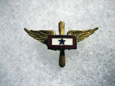 1 Star Son in Service Pin Aircorps