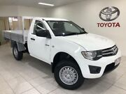 2013 Mitsubishi Triton MN MY13 GLX White 5 Speed Manual Cab Chassis Bungalow Cairns City Preview
