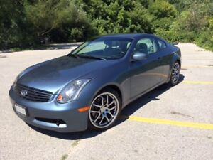 REDUCED - 2005 Infiniti G35S coupe, one owner- only 124,365KM
