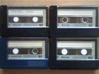 JL £10 &FREE P&P. 4x MEMOREX MRX2 1x 60 2x 90 1x 120 CASSETTE TAPES. 1974-1975. BATCH 2/4 JL OR SOLO