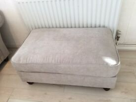 Immaculate Large Stone Grey Footstool £80