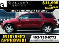 2007 GMC ACADIA SLT AWD $119 bi-weekly APPLY NOW DRIVE NOW