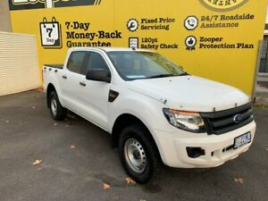 2015 Ford Ranger PX XL Double Cab White 6 Speed Sports Automatic Utility Invermay Launceston Area Preview