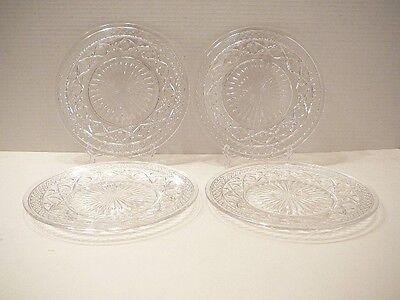 "Vintage Cape Cod Crystal Salad Plates 8.5""  Imperial Elegant Glass 1932-1970s"