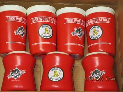 1988 WORLD SERIES OAKLAND A S LOT OF 7 INSULATED CUPS DRINK FOAM COOLERS NEW - $14.99